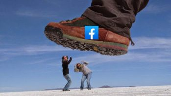 Ma már feletted is könnyen megjelenhet a facebook... talpa